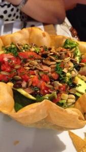 The Sonora Salad with black bean & corn salsa