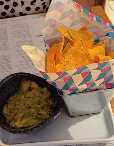 Nibbles: Guacamole with tortilla chips